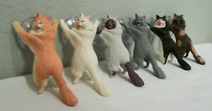 Lot of 6 Different Cute Cats for iPhone Support Resin iPhone Holder Stand Sucker