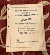 Allis-Chalmers Dealers Catalog Special Attachments For Gleaner A2 C2 Combine
