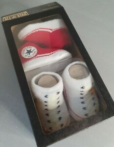 Converse All Star 'Chuck Taylor' Baby Sock Booties 2 Pairs- Baby converse Shoes