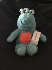 """NWT Carters Plush Toy Stuffed Animal Monster Alien Green 8-11"""" Lovey Doll 3-eyed"""
