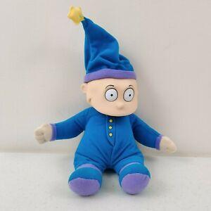 Vintage Rugrats Tommy Pickles In Blue Pajamas Plush Doll Mattel Viacom 1997 12''