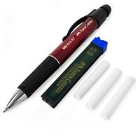 Faber-Castell Grip Plus Mechanical Pencil - Red + 0.7mm HB Leads + Erasers
