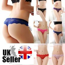 Pack of 5 Womens Lady Sexy Lace G-String V-String Thong Lingerie Underwear - UK