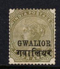 Gwalior 1889  4a Olive-Green SG26 - mint no gum