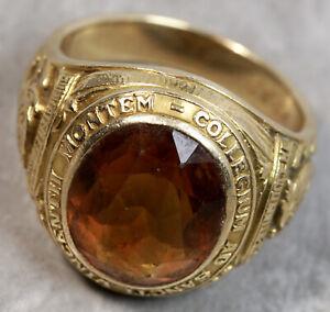 Vintage Tiffany & Co. 14K Yellow Gold Italy Citrine Signet Ring
