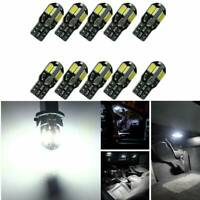 10x Canbus T10 194 168 W5W 5730 8 LED SMD Car Side Wedge Light Bulb Lamp White