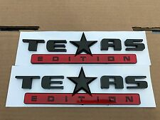 2X NEW TEXAS EDITION RED & BLACK EMBLEM FORD F-150 F-250 F-350 FENDER I TAILGATE