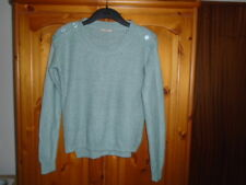 Cosy green textured knit long sleeve round neck boxy jumper, TU, size 6