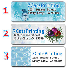 30 Christmas Card Personalized Return Address Labels Presents To From Stickers