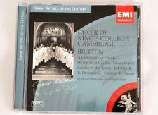 CD Choir of King's College Cambridge - Britten 2004 EMI  Made in Holland