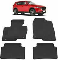 Rubber Rear & Front Floor Mats Carpets for Mazda CX-5 CX5 2013-2020 All Weather