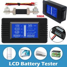 LCD DC Digital Monitor Volt Amperemeter Watt Meter Batterie Anzeige Tester Shunt