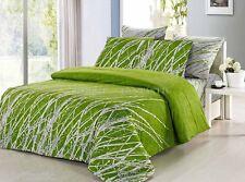 Pair of GREEN TREE King Pillowcases 50cm x 90cm New