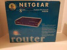 Netgear 8-port Cable/Dsl ProSafe Vpn Firewall 10/100 Mbps switch New Sealed