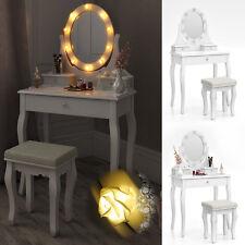 Tocador + taburete vestidor conservacion espejo dormitorio Villandry