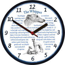 Whippet Large Wall Clock - Dog Breed Origins Animal Facts