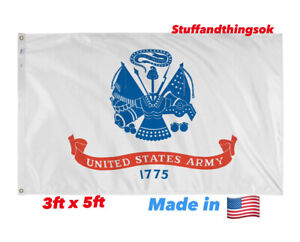 United States Army 3'x5' Fade Resistant Flag US Military Betsy Flags Mancave NEW