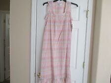 NWT MISS ELAINE PINK PLAID BALLET 100% COTTON NIGHTGOWN SMALL RETAIL $60.00