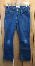 Levi Strauss 545 jeans Women's Sz 4M 4 Low Boot Cut  Med Wash Stained Well Worn