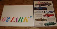 Original 1962 Studebaker Lark Regular & Deluxe Sales Brochure Lot of 2 62