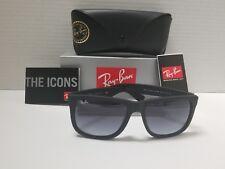 Ray-Ban RB4165 Justin 601 Sunglasses Matte Black Frame Grey Gradient Lens 54MM