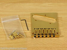 Fender American Standard Telecaster Bridge & Saddles Gold! New! Worldwide!