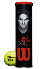 Wilson Legacy Roger Federer Tennis Balls (Can) All Court 4 Ball Can