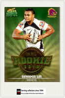 2011 Select NRL Champions Trading Cards Rookie 2010 R5 Dunamis Lui (Broncos)