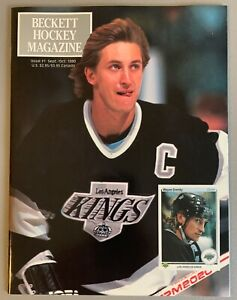 Beckett Hockey Card Price Guide Magazine #1 1990 Wayne Gretzky MINT ! 1st Issue