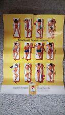Vintage 1990s Seagram's 7th Heaven Bikini Girls Poster Magazine Insert Good Cond
