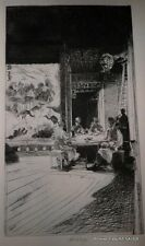CHINESE CARD PLAYERS PLATE A ETCHING JOHN W. WINKLER, MASTER ETCHER
