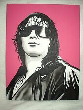 Canvas Painting Wrestler Bret The Hitman Hart Pink B&W 16x12 inch Acrylic
