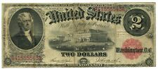 1917 SERIES $2 TWO DOLLAR RED SEAL LARGE CURRENCY NOTE BILL Fr.57