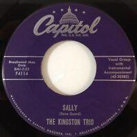THE KINGSTON TRIO Sally / Raspberries, Strawberries (Vinyl 45, Capitol) EXC
