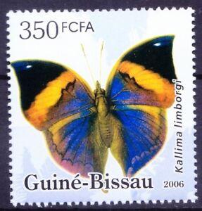 Guinea Bissau 2006 MNH, Peninsular Malaya Leaf Butterflies, Michel cat GW 3386 (