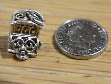 Vintage Charm Sterling Silver Fruit Slot Machine Opens For Charm Bracelet