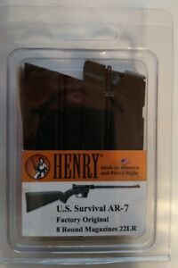 Henry US Survival Rifle 8 Round Magazine .22 LR 8rd Mag HS15 Factory NEW 2 Pack