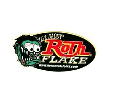 Lil Daddy Roth Metal Flake Oval Logo Sticker LG Hot Rod Chopper Kustom Kulture