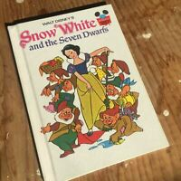 Walt Disney, Snow White And The Seven Dwarfs Vintage Hardcover Book 1973