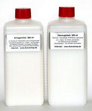 Anlegemilch und Schutzlack für Schlagmetall und Blattgold Blattsilber je 500 ml