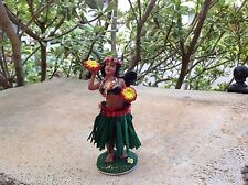 "Dashboard Aloha Doll Hula Girl Hawaii Polyresin 4"" Tall Hawaiian Car Dance New"