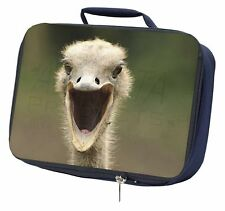 More details for ostritch photo print navy insulated school lunch box bag, ab-os1lbn