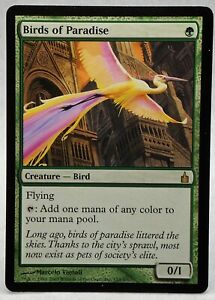 2005 Magic: The Gathering - Ravnica: City Guilds Birds of Paradise #153 [PLAYED]