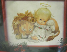 Dimensions Stamped Cross Stitch Kit Christmas Friends 8499 Holly Babes 1996