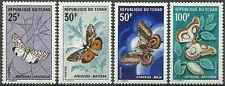 Timbres Papillons Tchad 157/60 ** lot 1772