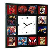 History of Spider-Man TV Show Comics Movies Clock with 12 pictures