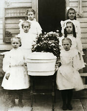 Vintage Funeral Little Girl Pallbearers Little Casket Old Time Funeral Children