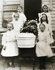 Vintage Funeral Little Girl Pallbearers Little Casket Old Time Funeral Children