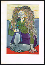 1950s Vintage Abstract Old Woman Pablo Picasso Art Offset Lithograph Print