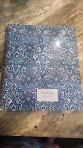 New Vera Bradley Large Notebook With Interior Pocket Blue Island Medallion